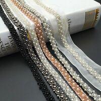 Accessories Wedding Pearl Bridal Applique Beaded Lace Trim Dress Decor Ribbon