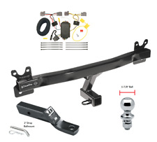 Trailer Tow Hitch For 08-10 Volvo V70 Wagon Complete Package Wiring & 1-7/8 Ball