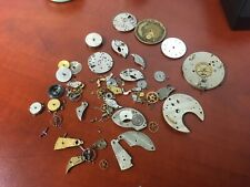 pocket watch movements parts repair Lot antique Elgin and Waltham