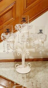 Gorgeous Crystal Candelabra Candle Holder Wedding Standing