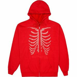 Prolific Women's Red Bones Rhinestone Hoodie