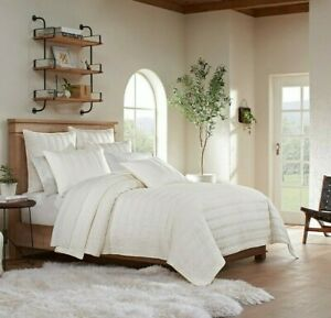 UGG Surfwashed King Quilt in Snow - NEW IN PACKAGE