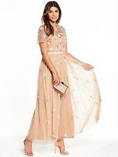 V by Very Embellished Maxi Dress Size 18 Blush