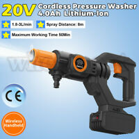 US 20V Cordless Pressure Washer Cleaner 435PSI 4.0A Battery & Charger Portable