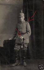 21447/ Originalfoto 9x13cm, Soldat Feldart. Rgt. 22 Fulda, Säbel, 1916