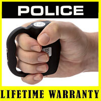 POLICE Stun Gun 519 Black 78 BV Rechargeable With LED Flashlight + Taser Case