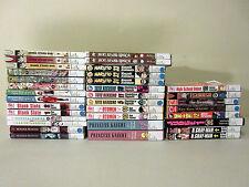 Manga 34 Book Lot Sayonara Gate 7 Otomen Yuyu Hakusho Naruto Blank Slate Magica