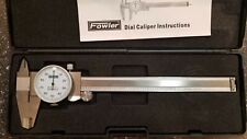 6 Fowler Dial Calipers 001 Shockproof Stainless Depth Rod In And Out Jaws