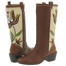 AMERICAN EAGLE NESSA BROWN WESTERN LEATHER EMBROIDERED BOOTS US SHOE SIZE 8.5(M)