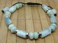 Bracelet AIGUE MARINE reglable lithotherapie pierre naturelle homme femme reiki