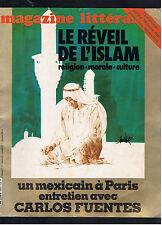 MAGAZINE LITTERAIRE N°181 1982 LE REVEIL DE L'ISLAM