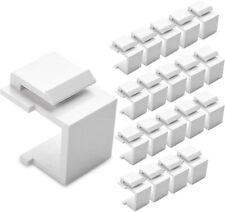 NIP 20-Pk Cable Matters Blank Keystone Insert (White) FREE SHIPPING
