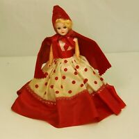 Vintage Story Book Doll Little Red Riding Hood Mail Order 7 In Hard Plastic 60's