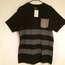 Billabong Men's Authentic Tailored Fit Black Striped Pocket T-Shirt NWT XL