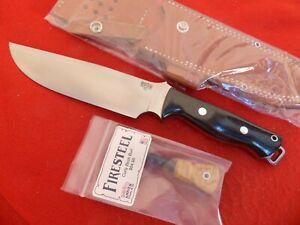 Bark River USA Bravo Survivor 07-216M-BC MIB micarta fixed blade knife & sheath