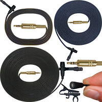Professional 3.5mm TRS Lavaliere Microphone Mini Clip On Lapel Top Quality Sound