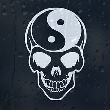 Ying Yang Skull Sign Symbol Car Decal Vinyl Sticker For Bumper Window Panel