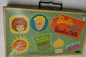 1962 BARBIE & KEN Paper Dolls w/ Original Travel Box & Lots of Clothes WHITMAN