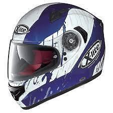 X-LITE X-661 SPOX WHITE/BLUE 017 MOTORCYCLE HELMET- MEDIUM