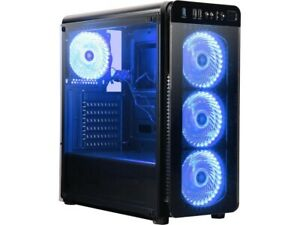 Intel Quad 4.3GHZ Gaming PC Desktop Computer 8GB DDR4 SSD AMD RX 570 4GB DVD