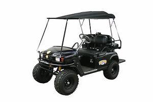 Southern Rods Folding Golf Cart Top Removable Club Cart EZ GO BLACK Universal