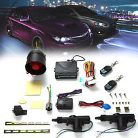 Universal Car Remote Control Central Shock Sensor Locking KIT Alarm Immobiliser