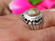 antik orient silber Augen-Achat statement ring Eye-Agate Afghanistan Nr:17/447