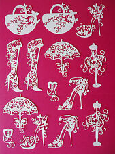 "14 Tattered Lace Die Cut ""Fashion Accessories"" Embellisments"