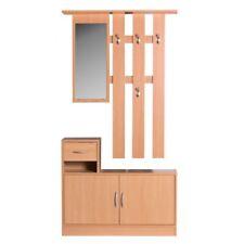 Garderobe Buche 90cm mit Spiegel, Wandgarderobe + Schuhschrank NEU/OVP
