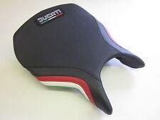 D04L Ducati 749/999 seat cover carbon/Italian flag colours- FRONT