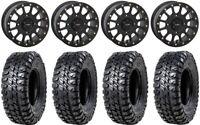 "System 3 SB-5 Black 14"" Wheels 31"" Chicane RX Tires Kawasaki Mule Pro FXT"