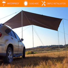 Portable Rear Car Side Awning Rooftop Tent Sun Shade SUV Outdoor Camping Shelter