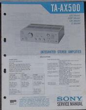 Sony TA-AX500 HIFI Verstärker Service Repair Workshop Manual (Original Version)