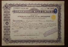 INDIA THE OSMANSHAHI MILLS LIMITED 1924 TITLE OF ONE SHARE BOND