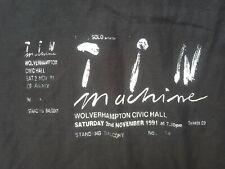 David Bowie Tin Machine Retro Ticket T Shirt Wolverhampton 1991 Handmade