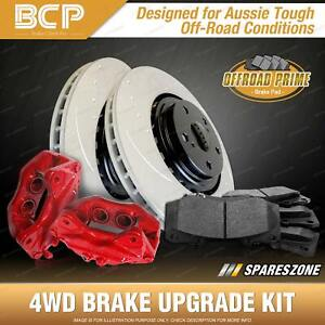 Rear 4WD Brake Calipers + Rotors + Pads for Honda Accord EURO CU2 K24Z3 2.4L