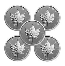 2016 Four Leaf Clover Privy Canadian Silver Maple Leaf Reverse Proof (Lot of 5)