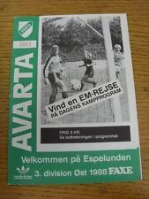 C1987/1988 Avarta V Dragor. artículo en muy buenas condiciones, a menos que se indique en anterior