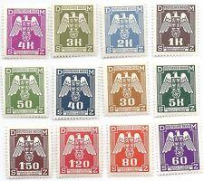 Nazi Germany Third Reich B&M Iron Swastika Eagle Stamp Set MNH WW2 Era stamps #1
