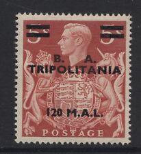 """Tripolitania - 1950 120L sur 5 / - menthe avec """"t"""" lignes directrices sg.t25var (ref.a2)"""