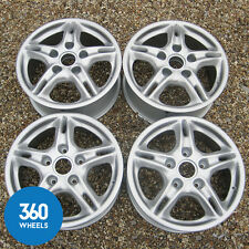 "GENUINE PORSCHE BOXSTER 16"" 986 5 TWIN SPOKE ALLOY WHEELS 99636211400 9963621120"