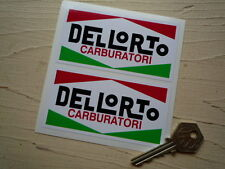 "DELLORTO Race Car STICKERS 4"" Pair ALFA ROMEO FERRARI MASERATI FIAT Bike Racing"