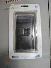 New At&T Medium Horizontal Black Leather Universal Cell Phone Case Holder #2488