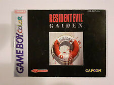 Resident Evil: Gaiden (Nintendo Game Boy Color, 2001) Booklet