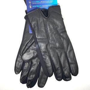 ISOTONER Signature Men's Stretch 100% Leather Gloves Size Large MSRP $80