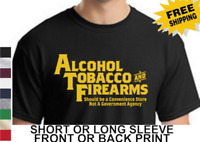 2nd Amendment Funny Gun Rights ATF Should Be Store AR15 Rifle Mens T Shirt