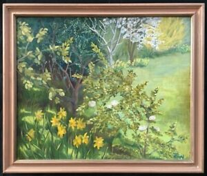 20th Century English School Oil on Board Landscape Painting. Signed.