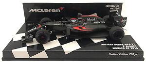 Minichamps McLaren Honda MP4-31 Monaco GP 2016 - Fernando Alonso 1/43 Scale