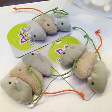 New listing 3Pc Vivid Fur False Plush Mouse Pet Playing Toys Cute Kitten Cat Toy Funny Mini