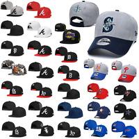 Classic Embroidered MLB Flat Brim Hip Hop Style Snapback Sports Hat Baseball Cap